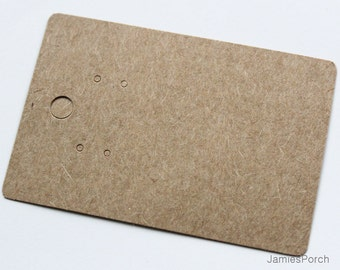 Brown Kraft Paper Hanging Earrings Card for Jewelry and Accessories..200pcs(Large)