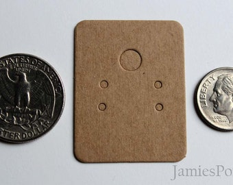 Blank Design Small Brown Kraft Paper Earrings Card for Jewelry and Accessories..100pcs(Small)