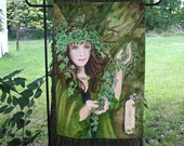 Ivy Card,  Celtic Ogham Garden Flag
