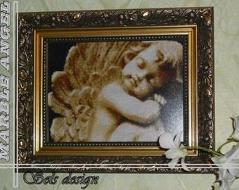 MARBLE ANGEL cross stitch pattern