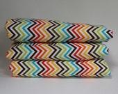 Baby Blanket, baby rug, chevron, zig zag, Multicolored, Rainbow, modern