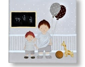 Custom canvas Boys playing with balloons