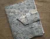 iPad cover with  French map print and folding stand -free shipping (in the U.S)