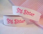 "Grosgrain Ribbon 7/8"" Big Sister Diva White 1 Yard"