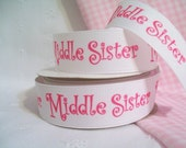"Grosgrain Ribbon 7/8"" Middle Sister Diva White 1 Yard"