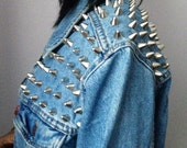 SEXYBACK ((THE REMIX)) - Vintage Custom Studded Denim Jacket - Made To Order - All Sizes Available