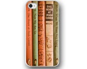 Childrens Books, iPhone 5 4 Case, Cell Phone Case, Childrens Books, Library, Vintage Books, Orange Peach Green Pastel, Accessory iPhone