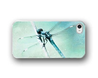 Dragonfly, iPhone 6  iPhone 5 4 4s Case, Blue Dragonfly, Botanical, Dreamy, Cell Phone Case, Accessory for iPhone 6  iPhone 5 4 4s/5 4 4s