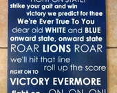 Penn State Fight Song Subway Art