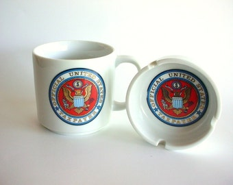 Mug and Ashtray, Official United States Taxpayer - Made in Japan - Vintage CounterPoint - wlv t