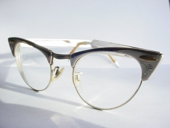 Cat Eye Glasses Shuron Aluminum Vintage 1950s