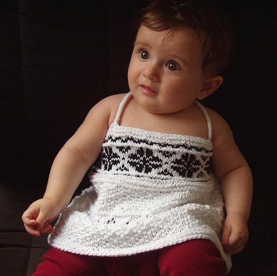 Baby/toddler tank top Sweetness knitting pattern