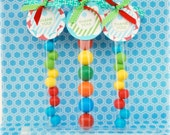 Candy GUMBALL Tubes - Plastic Tubes -  10 Pack
