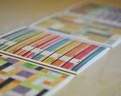 Card Greeting Color Modern Design Blank