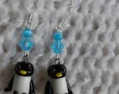 Penguin Dangle Earrings RESERVED for mattdog333