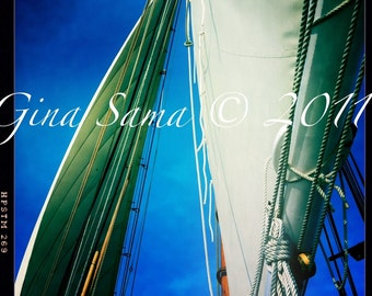 Sailboat Sails 10x10 inch Photograph