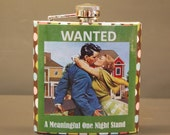 Flask  Stainless Steel  Decorated Hip Flasks Wanted A Meaningful One Night Stand