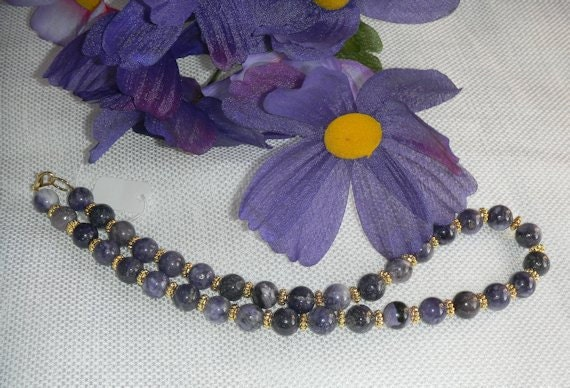 A Last Chance for Beautiful Deep Shades of Purple CHAROITE Necklace FREE Shipping