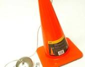 Safety cone pendant light