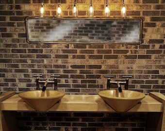 Bathroom Light Fixtures With Edison Bulbs vanity light skateboard bathroom light fixture. wall light.