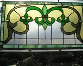 MADE to ORDER|Fleur-de-Lis Stained Glass Panel|Fleur-de-Lis|Custom Colors|Art & Collectibles|Glass Art|Panel|Window|Handcrafted|Made in USA