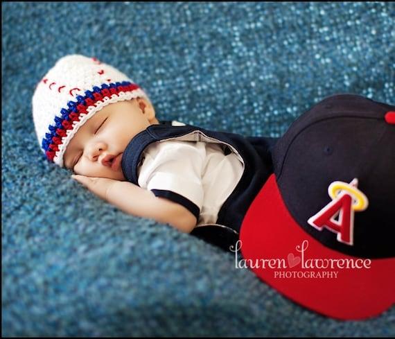 items similar to crochet baby baseball hat photo prop