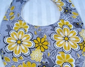 Baby Bib with Yellow Flowers