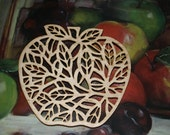 Wooden Apple Trivet (20120034)
