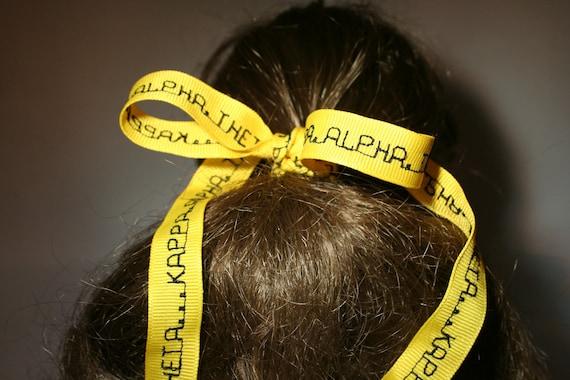 KAPPA ALPHA THETA yellow grosgrain ribbon