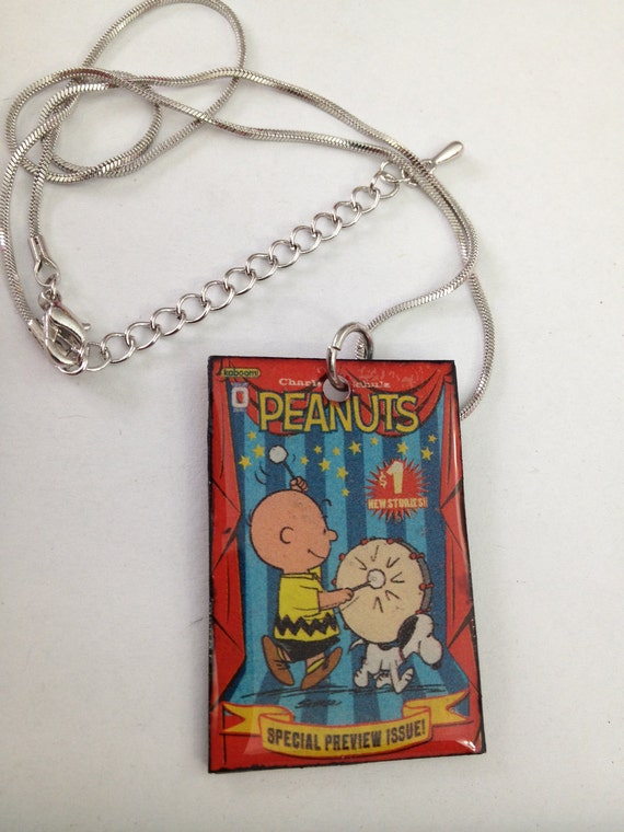 SALE - Necklace  - Peanuts - Charlie Brown - Comic Book