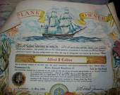 1968 Naval Plank Owner Certificate Our Navy River Assault Squadron 15 with Original Mailing Tube Excellent Condition