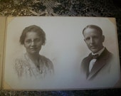 "Vintage Photograph 1910s Bride and Groom Wedding 8"" x 5"""