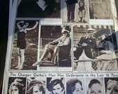 1930s Minneapolis Tribune Newspaper Hollywood Unmasked Section Photos of Greta Garbo World's Fair and More
