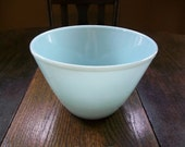 Vintage Fire King Turquoise Blue Azurite Glass Mixing Bowl