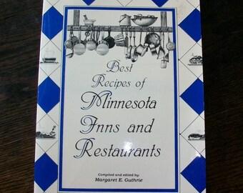 Vintage Regional Cookbook Best Recipes of Minnesota Inns and Restaurants