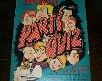 1947 Board Game Noma Party Quiz Vintage Battery Operated