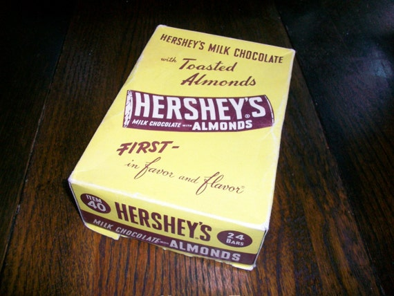 Vintage Hershey's Milk Chocolate Bar Box Antique Advertising
