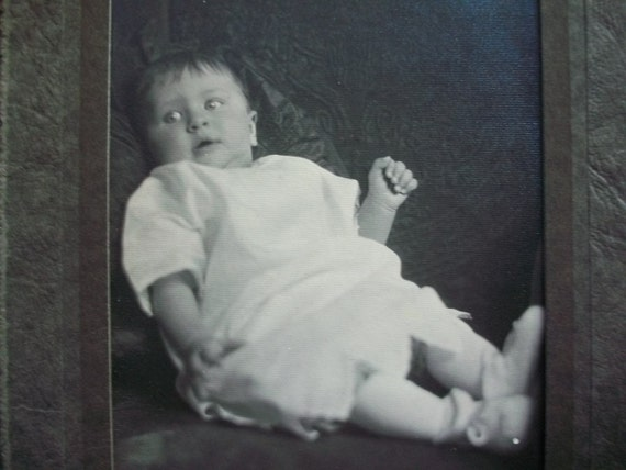 1940s Original Photograph of Adorable Baby Vintage Picture