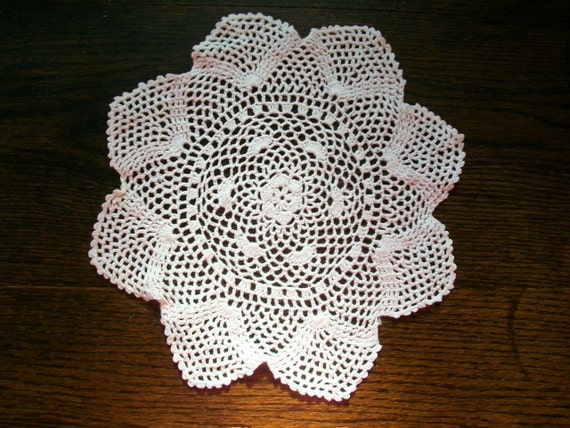 Vintage Doily Hand Crocheted Lace 10 Inch
