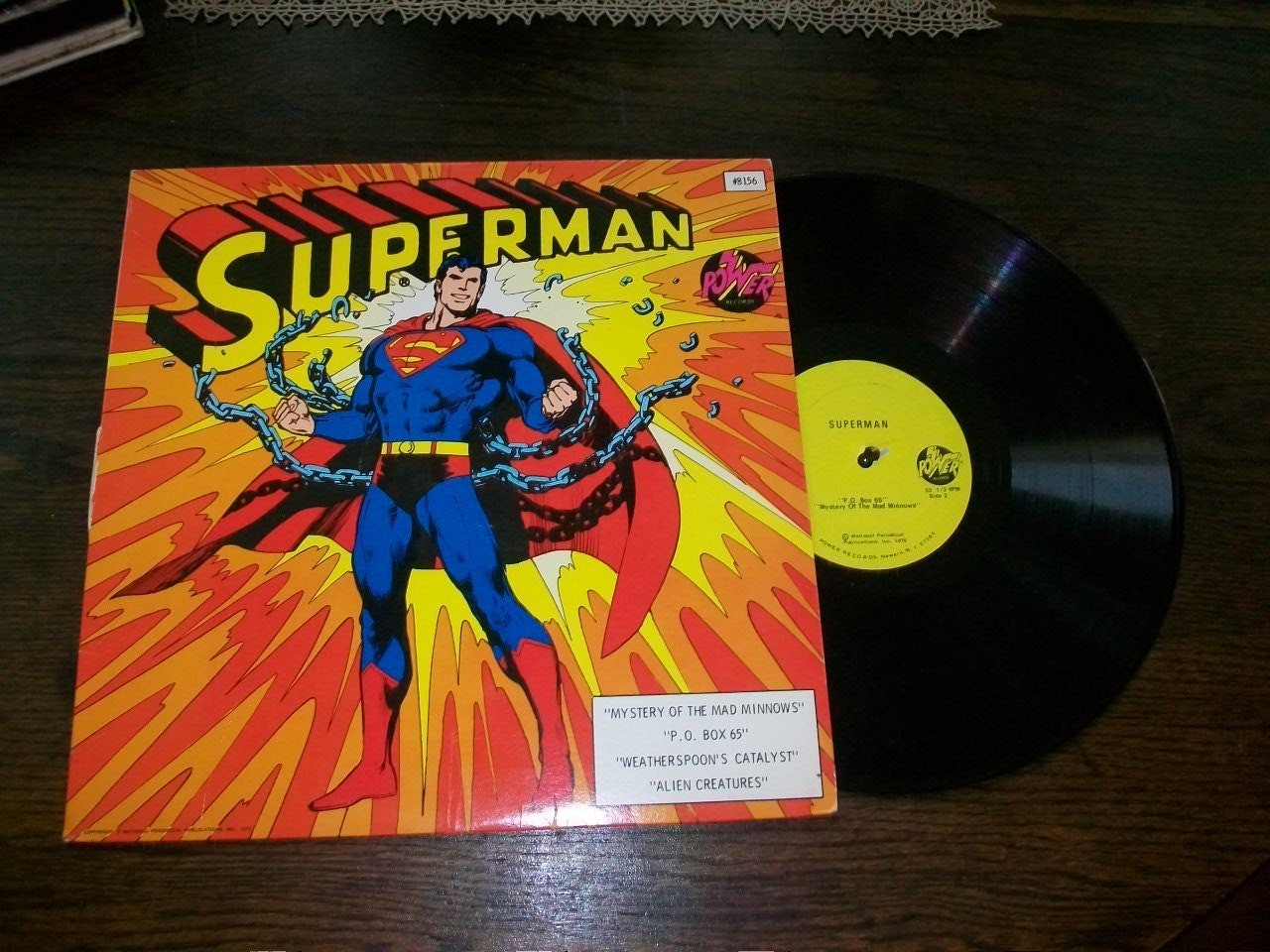 Superman Lp Record Album 8156 4 Stories From 1975