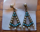 Vintage Boho Style Dangle Screw Back Earrings