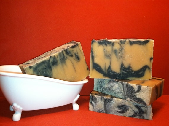 Lager Man Beer soap with Activated Charcoal