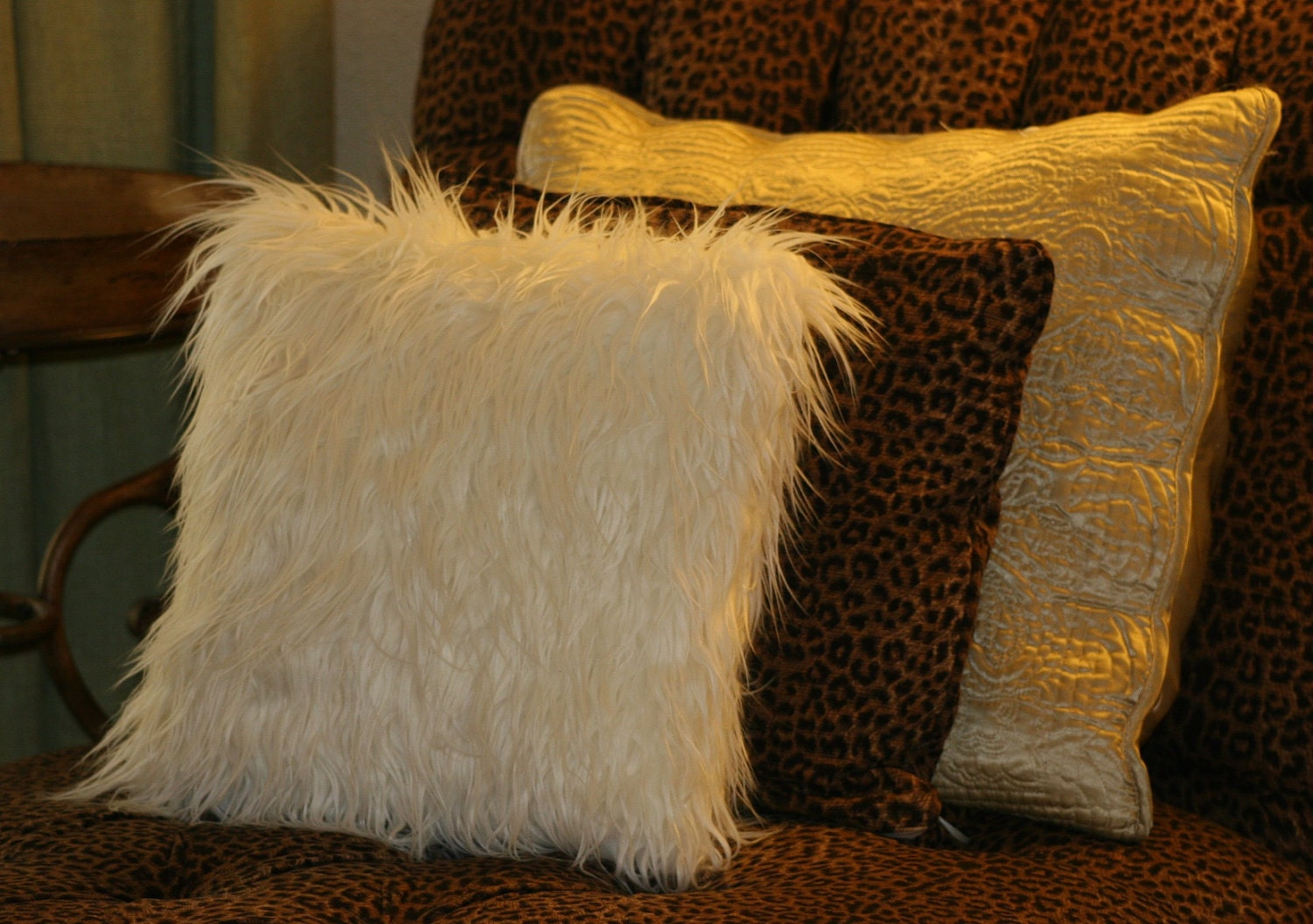 Mongolian Faux Fur Pillow Cover By Tousledthread On Etsy