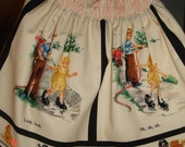 "Vintage  Dick and Jane ""Look"" Skirt  Size 4 Michael Miller Fabric"