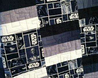"Quilted blanket  Baby Throw Quilt  ""A New Hope""  Star Wars Handmade to order"