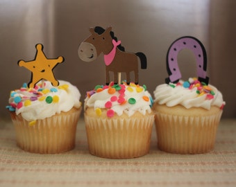 Cowgirl/Cowboy Cupcake Toppers