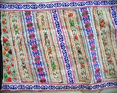 Bohemian tribal embroidered fabric--BLUE (FST10-5)
