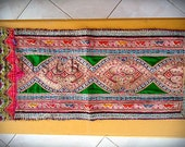 Bohemian tribal embroidered fabric--GREEN (FST10-6)
