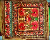 Bohemian tribal embroidered fabric--PINK (FST50-3)