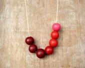 Bright Handmade round beads Necklace